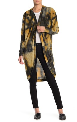 Abound Tie Dye Printed Knit Long Cardigan