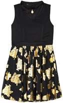 IZ Amy Byer Girls 7-16 IZ Amy Byer Foil Rose Skirt Dress with Necklace
