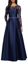 Alex Evenings Women's Illusion Neckline Gown