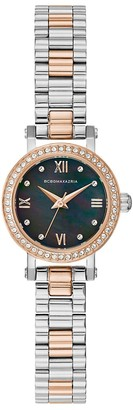 BCBGMAXAZRIA Classic Two-Tone Stainless Steel Crystal Bracelet Watch