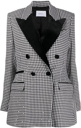 Racil Double-Breasted Houndstooth Jacket