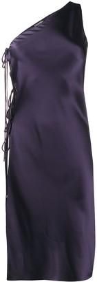 Chanel Pre Owned 1998 Side-Tie Asymmetric Dress