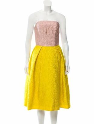 Mary Katrantzou JQ Nevis Strapless Dress pink