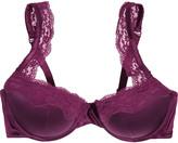 Stella McCartney Clara Whispering lace-trimmed stretch-silk contour bra