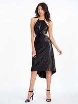 Halston Sequined Dress With Cut Outs