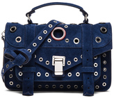 Proenza Schouler Tiny PS1 Suede & Leather Grommets