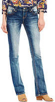 Miss Me Crosses Stretch Slim Bootcut Jeans