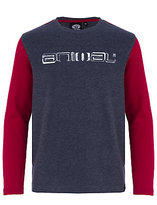 Animal Boys' Long Sleeve Logo T-Shirt, Navy/Red