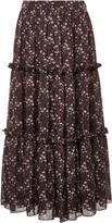 Co Tiered Floral High Waist Skirt