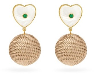 Lizzie Fortunato New Crush Gold-plated Drop Earrings - Green Gold
