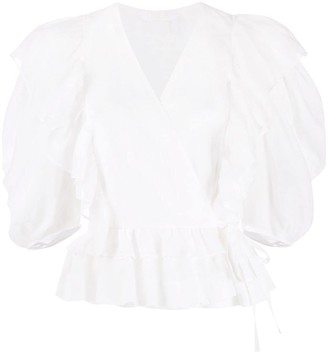 Chloé Ruffled Wrap Top