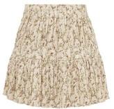 Sir - Alba Flora-print Cotton-blend Plisse Mini Skirt - Womens - Ivory Multi