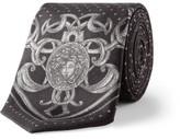 Versace Spot Medusa Silk Tie