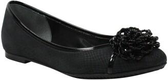 J. Renee Mallantha Beaded Flower Ballet Flat