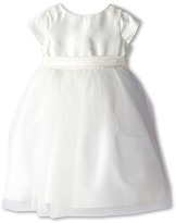 Us Angels Cap Sleeve Silk and Tulle Dress (Toddler)