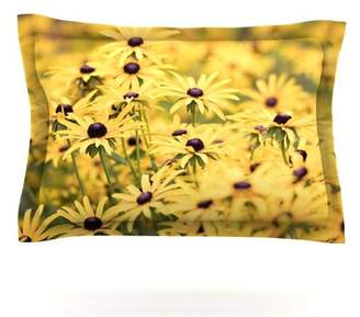 Pantone KESS InHouse Yellow by Debbra Obertanec Featherweight Pillow Sham KESS InHouse Size: Queen, Fabric: Cotton