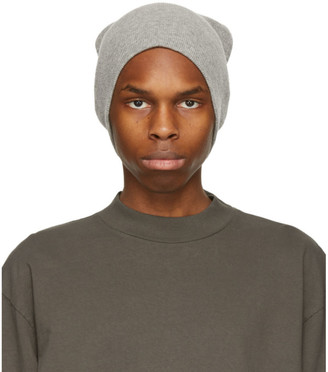 John Elliott Grey Wool and Cashmere Surplus Beanie