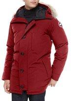 Canada Goose Chateau Fur-Trimmed Parka Jacket, Red