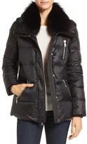 Andrew Marc Women's 'Chloe' Down Coat With Genuine Fox Fur Trim