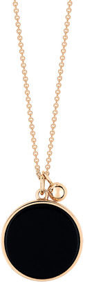 ginette_ny Ever Black Onyx Disc On Chain - Rose Gold