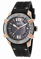 Elini Barokas Women's ELINI-20005D-RG-01-SB Spirit Analog Display Swiss Quartz Black Watch