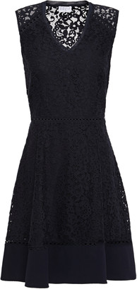 Claudie Pierlot Crepe-paneled Corded Lace Mini Dress