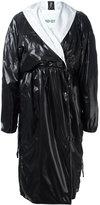 Kenzo shiny trench coat - women - Cotton/Polyethylene - 36