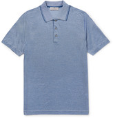 Canali - Slim-fit Striped Cotton-jersey Polo Shirt
