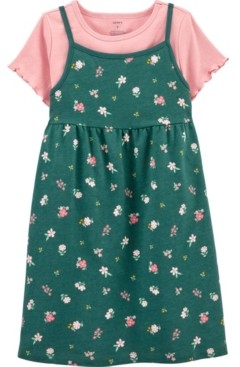 Carter's Little & Big Girls 2 Piece Tee Floral Dress Set