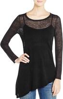 Eileen Fisher Petites Sheer Asymmetric Sweater