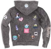 Butter Shoes Girls' Mineral-Washed I Love Snow Hoodie