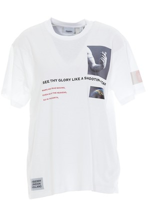 Burberry Montage Printed Oversized T-Shirt