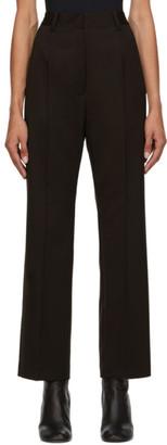 MM6 MAISON MARGIELA Brown Wool Slim Trousers