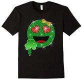 St. Patrick's Day Heart Eyes Emoji T-Shirt for Girls
