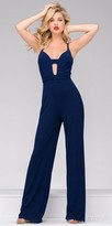 Jovani Straight Jersey Cut Out Jumpsuit