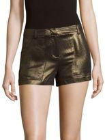 BCBGMAXAZRIA Metallic Zipped Shorts