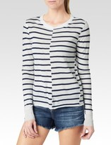 Paige Allie Stripe Sweater - Ivory & Navy Stripe