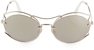 Miu Miu 57MM Circle Aviator Sunglasses