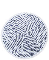 The Beach People The Avalon Round Towel in Navy.