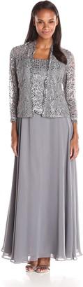 Ignite Women's 3 Pc Cami Tank Skirt and Jacket Dress Grey 14