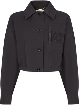 Fendi Cropped Logo Patch Jacket