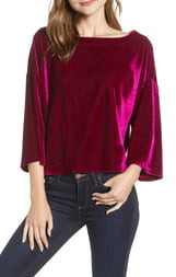 Cupcakes And Cashmere Velvet Dolman Top