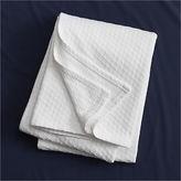 CB2 Hive White Full/Queen Blanket