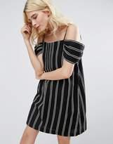 Greylin Riya Stripe Cold Shoulder Dress
