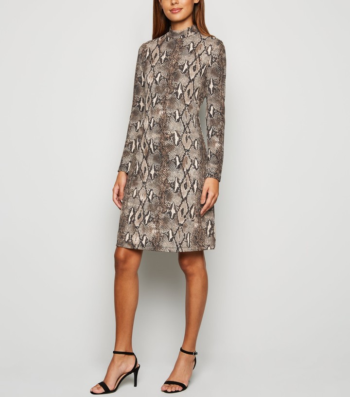 Thumbnail for your product : New Look Mela Snake Print Dress