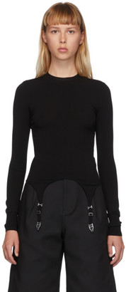 Dion Lee Black Garter Long Sleeve T-Shirt