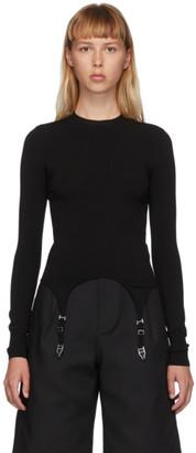 Dion Lee Black Garter Long Sleeve T-Shirt
