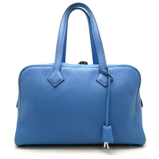 Hermes Victoria Blue Leather Travel bags