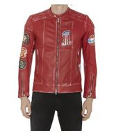 S.W.O.R.D. Patch Leather Jacket
