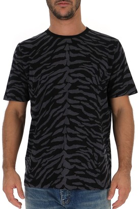 Saint Laurent Zebra Print T-Shirt